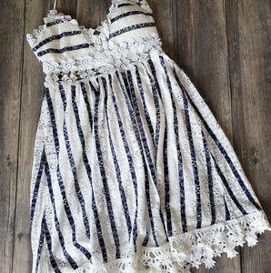 Crochet detail summer dress